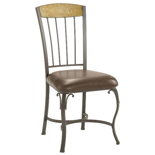 Morris Home Furnishings Lakeview Dining Chair with Wood Panel in Top