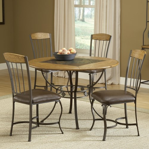 Morris Home Furnishings Lakeview 5-Piece Round Dining Set w/ Wood Chairs