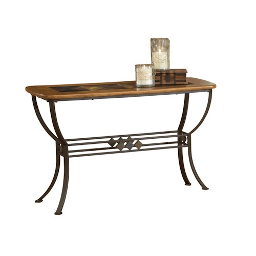 Hillsdale Lakeview Lakeview Sofa Table with Wood & Stone Top
