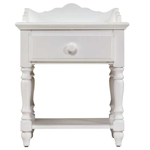 Morris Home Furnishings Lauren  1-Drawer Nightstand