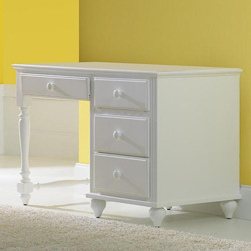 Morris Home Furnishings Lauren  Single Pedestal Desk w/ 4 Drawers