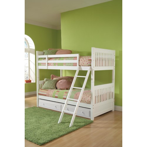 Morris Home Furnishings Lauren  Twin Bunk Bed with Storage Drawer