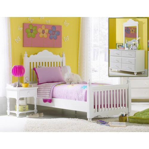 Morris Home Furnishings Lauren  4-Piece Twin Bedroom Group with Poster Bed