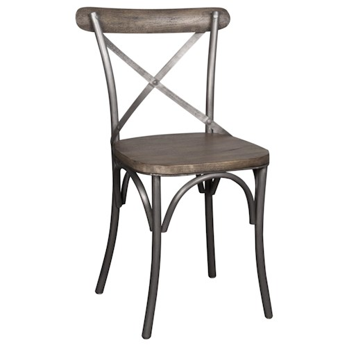 Morris Home Furnishings Lorient Dining Side Chair with X Back