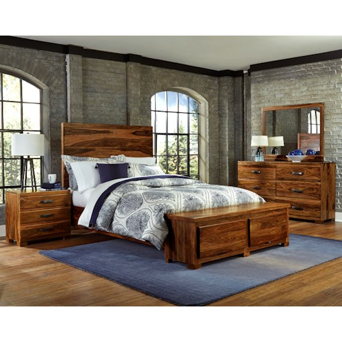 Morris Home Furnishings Madera 4-Piece Storage Bedroom Set - King