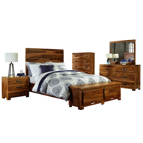 Morris Home Furnishings Madera 5-Piece Storage Bedroom Set - King