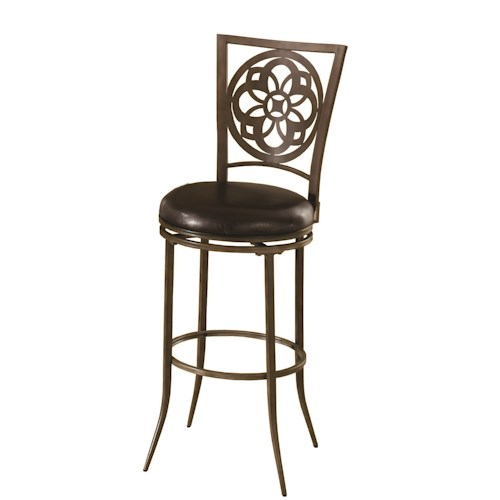 Morris Home Furnishings Marsala Swivel Bar Height Stool