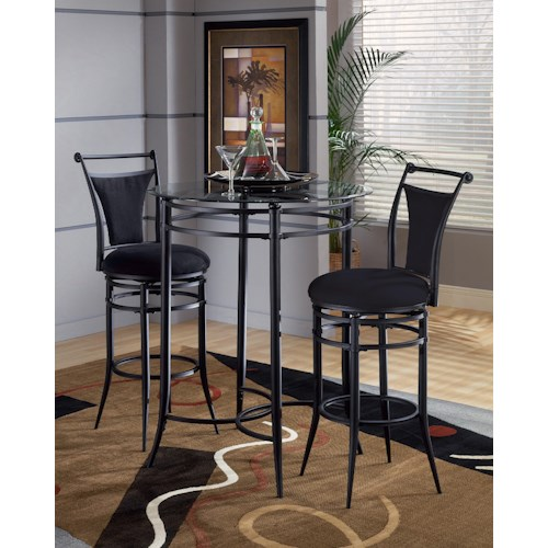 Hillsdale Mix N Match Cierra 3-Piece Bistro Set - Black