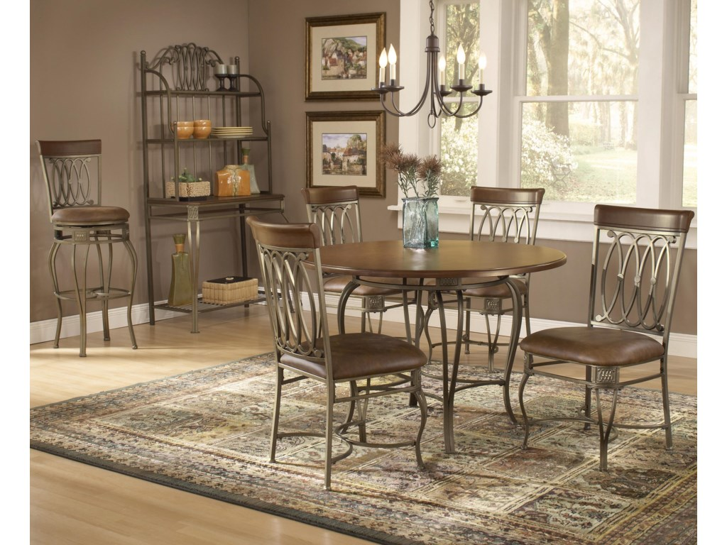 Shown with Dining Chairs, Stool, and Baker's Rack