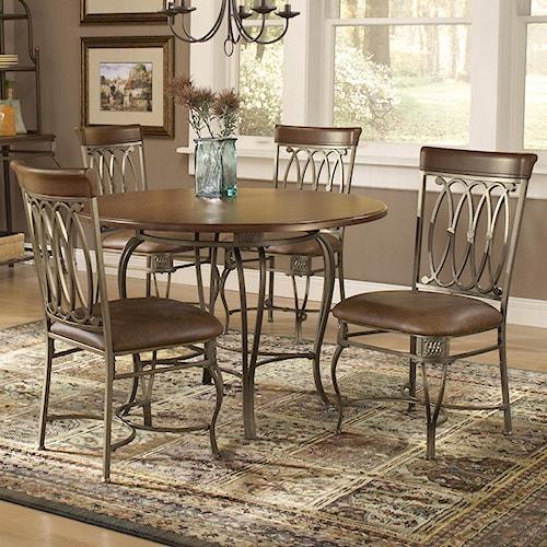 Morris Home Furnishings Montello Five Piece Dining Set