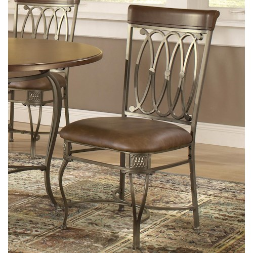 Hillsdale Montello Dining Chair with Brown Faux Leather