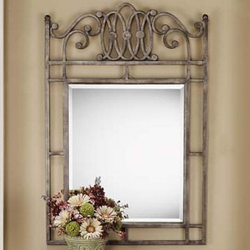 Morris Home Furnishings Montello Console Mirror with Metal Frame