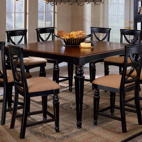 Morris Home Furnishings Northern Heights Rectangle Counter Height Dining Table