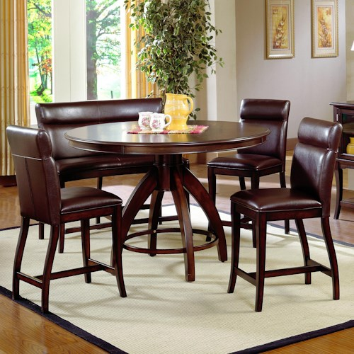 Hillsdale Nottingham 5 Piece Timeless Counter Height Dining Set