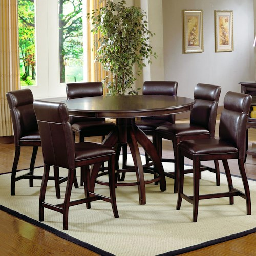 Morris Home Furnishings Nottingham 7 Piece Timeless Counter Height Dining Set