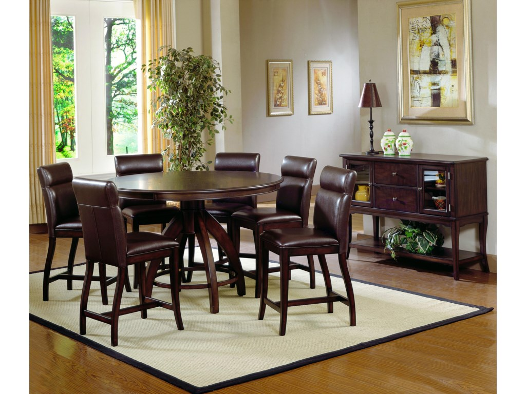 Shown with Expressive Counter Height Upholstered Charis and Matching Server