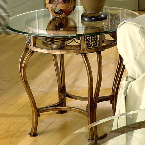 Hillsdale Occasional Tables Scottsdale End Table with Flower Motif