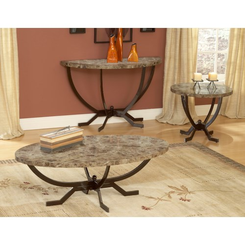 Hillsdale Occasional Tables Monaco Sofa Table with Splayed Legs