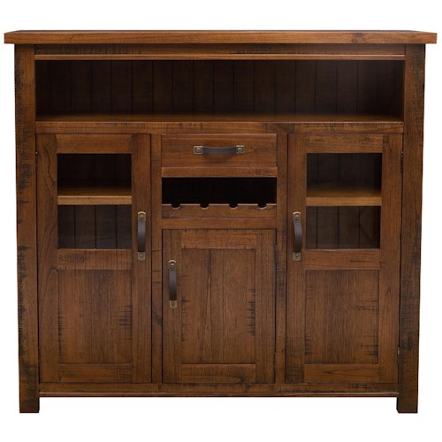 Morris Home Furnishings Outback Wine Rack w/ 3 Doors
