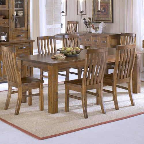 Hillsdale Outback 7 Piece Leg Table and Chair Set