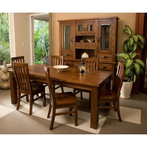 Hillsdale Outback Mission Style Seven Piece Dining Set