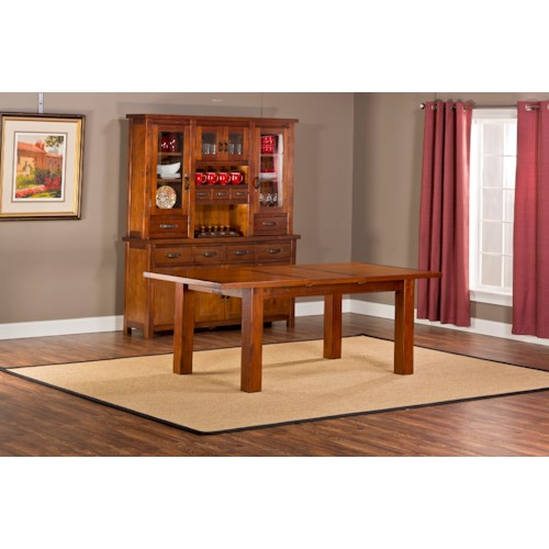 Hillsdale Outback Dining Table with Block Feet and Leaf