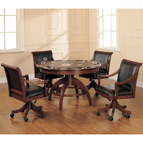 Morris Home Furnishings Palm Spring 5 Piece Game Table and Chairs Set