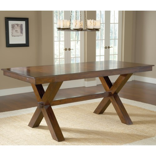 Morris Home Furnishings Park Avenue Counter Height Trestle Table