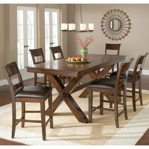 Morris Home Furnishings Park Avenue 7 Piece Pub Table and Stool Set
