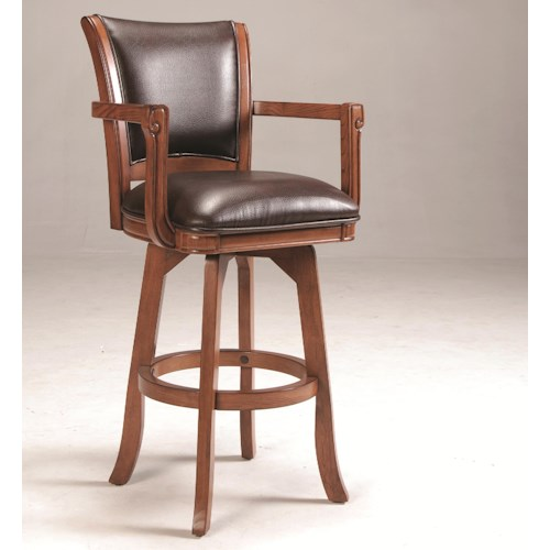 Morris Home Furnishings Park View Upholstered Swivel Bar Stool