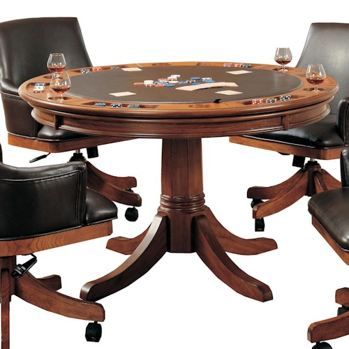 Morris Home Furnishings Park View Round Flip Top Gaming/Dining Table