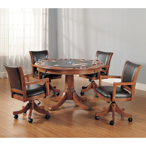 Hillsdale Park View Five Piece Gaming Lift-Top Table and Chair Set