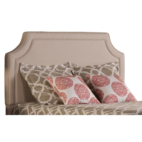 Morris Home Furnishings Parker Linen Tone Queen Upholstered Headboard