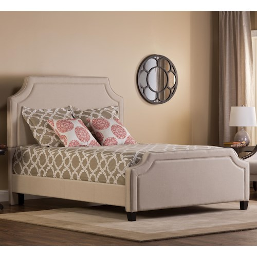 Morris Home Furnishings Parker Upholstered Queen Bed Set with Rails