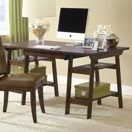 Hillsdale Parkglen Desk with East Access Storage Shelves