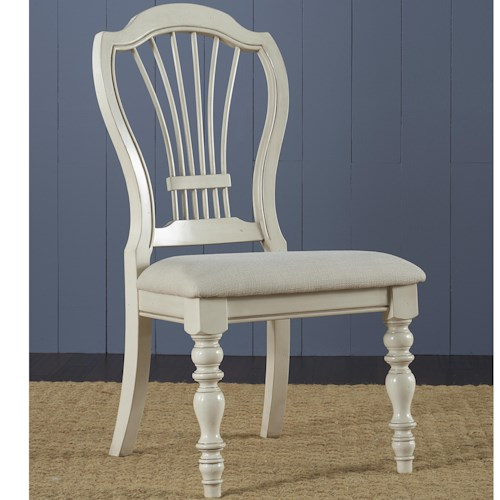 Hillsdale Pine Island Dining Side Chair with Harp Back