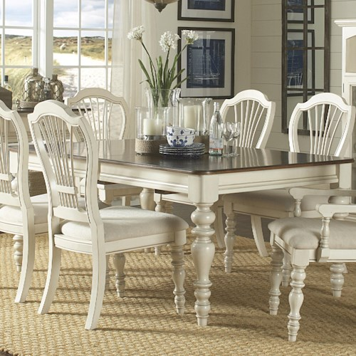 Morris Home Furnishings Nantucket Dining Table with Turned Legs