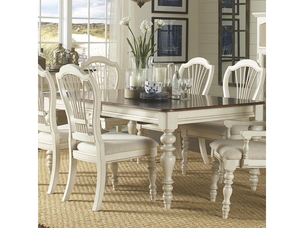 Hillsdale Pine Island Dining Table with Turned Legs Hudsons – Hillsdale Dining Chairs