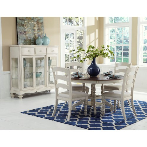 Morris Home Furnishings Nantucket 5 Piece round Dining Set with Side Chairs