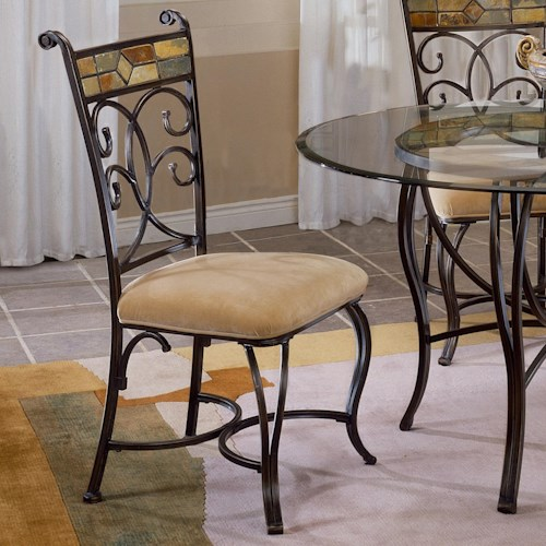Morris Home Furnishings Pompei Slate Accented Dining Side Chair