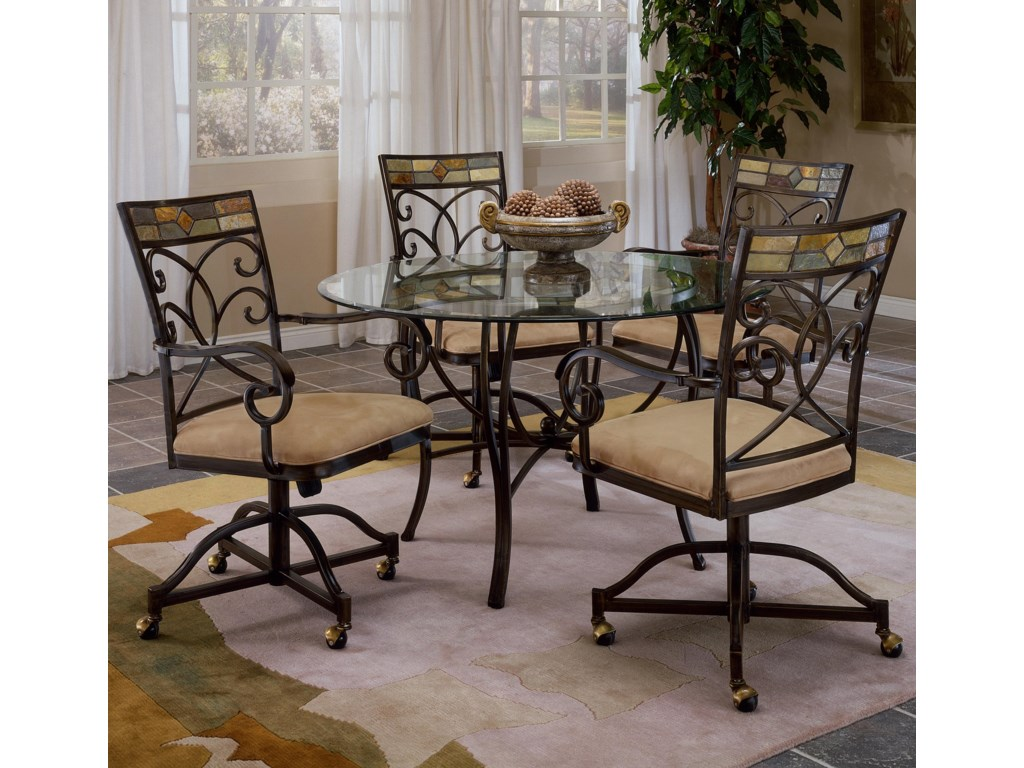 Shown with Slate Accented Chairs with Casters