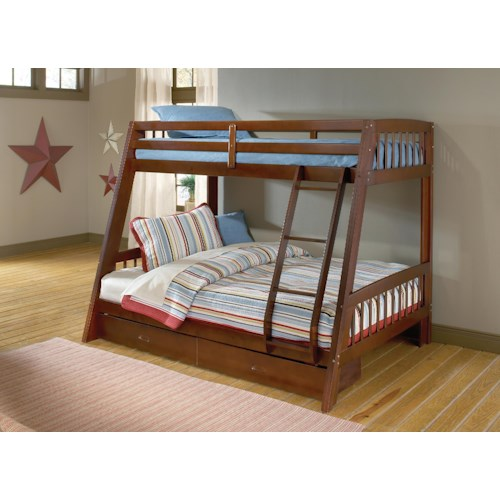 Hillsdale Rockdale Twin-over-Full Bunk Bed with Storage Drawer