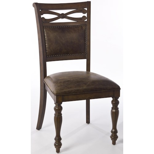 Morris Home Furnishings Seaton Springs Dining Side Chair with Turned Front Legs