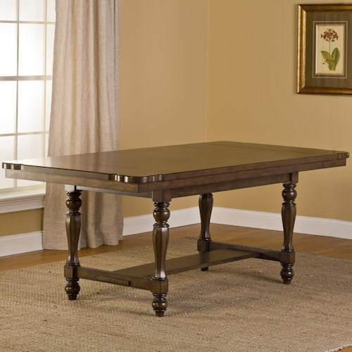 Hillsdale Seaton Springs Trestle Table with Curved Corners