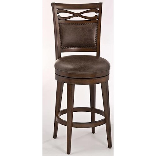 Morris Home Furnishings Seaton Springs Counter Stool with Two-Paneled Back