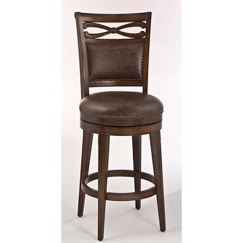 Morris Home Furnishings Seaton Springs Bar Stool with Two-Paneled Back
