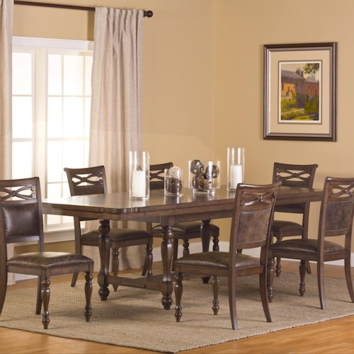 Hillsdale Seaton Springs 7 Piece Dining Set with Trestle Table