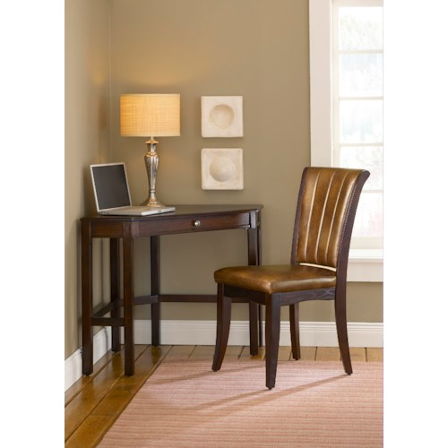 Morris Home Furnishings Solano Cherry Corner Desk and Chair Set