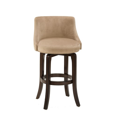 Hillsdale Napa Valley Stools Napa Valley Swivel Counter Stool Upholsted with Textured Khaki Fabric