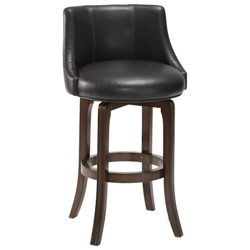 Morris Home Furnishings Napa Valley Stools Napa Valley Swivel Bar Stool with Black Vinyl Upholstery